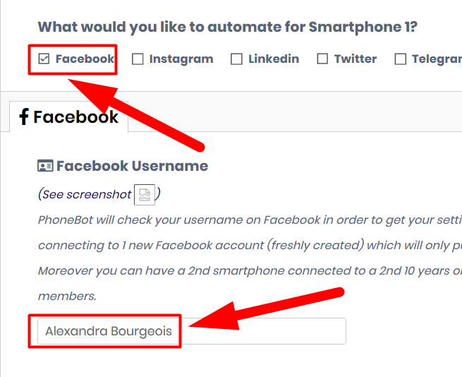 Facebook automation mass messaging