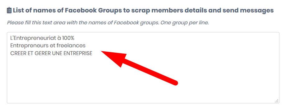 list of names of Facebook groups