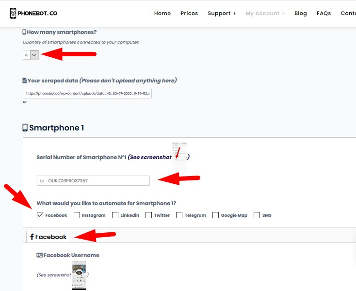 configure phonebot for Facebook Group Auto Poster
