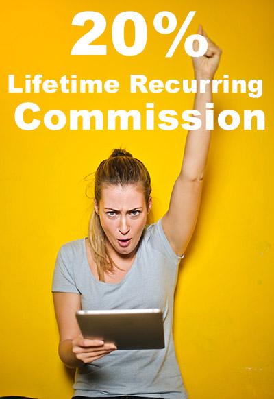 Affiliaition Lifetime Recurring Commission