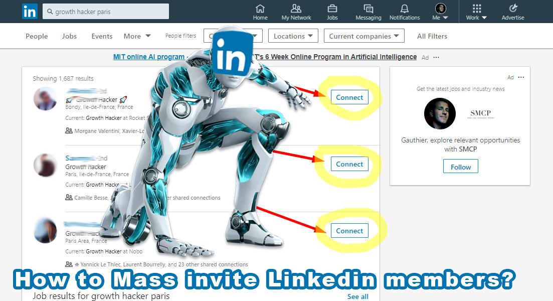 linkedin bulk invite